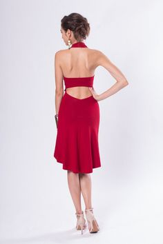 Celeste Open Back Sleeveless Tango Dress from Adelyn SF