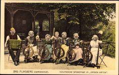 Postcard Świeradów Zdrój Bad Flinsberg Schlesien, Schlesische Spinnstuben,grüner Hirte