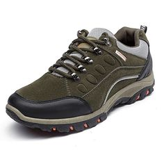 Men Suede  Hiking Water Resistant Shock Absorption Outdoor Casual Sneakers