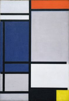 "Composition with Red, Blue, Black, Yellow, and Gray  Piet Mondrian (Dutch, 1872-1944)    1921. Oil on canvas, 29 7/8 x 20 5/8"" (76 x 52.4 cm). Gift of John L. Senior, Jr."