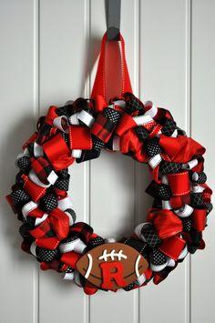 Rutgers ribbon wreath!
