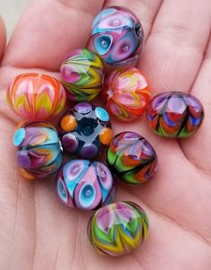We've Brainstormed, You Benefit: The Best Jewelry Advice Is Here Polymer Clay Beads, Handmade Polymer Clay, Lampwork Beads, Glass Marbles, Glass Beads, Handmade Beads, Stained Glass Art, How To Make Beads, Glass Jewelry