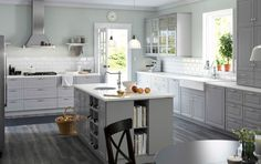 bodbyn grey kitchen - Google Search