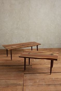 LIVING: I know C liked the live-edge dining table... this is a smaller option for a coffee table.