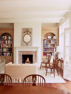 Stunning Greek Architectural Residence with Vintage Furniture Inside: Cozy Family Room Decor With Traditional Fireplace Design Greek Revival ~ druyork.com Architecture Inspiration
