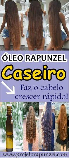 Óleo Rapunzel Caseiro para o Seu Cabelo Crescer Muito Rápido - Projeto Rapunzel