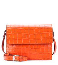 Ganni Embossed leather shoulder bag