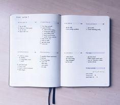 Chloe's Weekly Log in her Bullet Journal