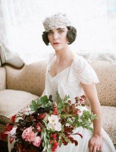Peinados para novia de pelo corto » Mi Boda #accesorios #pelo #tocados  #bodas #novias #ideas #inspiración #MiBoda