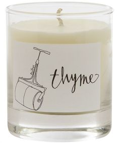 Thyme scented candle