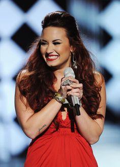 """Demi Lovato has this brilliant tattoo on her forearm that says """"faith"""" and I've been in love with it from the moment I saw it and I'm debating about whether I should get it. This placement is perfect for me; it's inspiring, and simple."""