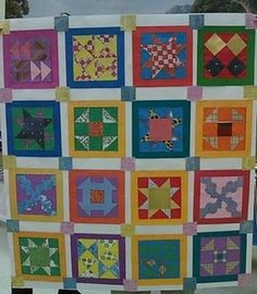 "Freedom quilts - fun to make, and also a teaching tool.  Can also use in a classroom with either fabric scraps and glue, tissue paper, or laminate a pattern block and used laminated colored construction paper for the ""pieces"".  :o)"