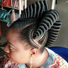 TOP 25 Cute Updos for Natural Hair for Black American Woman - Trends 2018