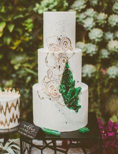 open geode cake