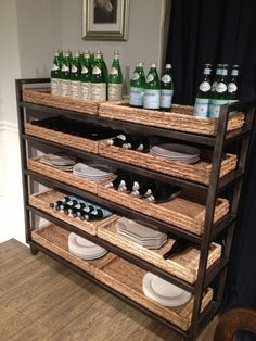 Would love to add baskets to our (home depot) bakers rack - a more organized and polished look!