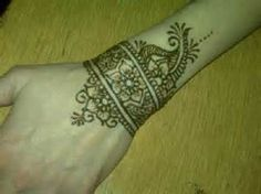 simple henna wrist designs - - Yahoo Image Search Results
