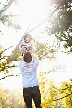 Fall Family Photo - Daddy and daughter. golden light and sunflare. Photo by Intuitive Images Photography http://intuitiveimagesphotography