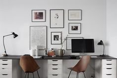Workspace for two - via Coco Lapine Design