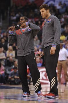 Chris Paul & Blake Griffin's All-Star cardigans. I love these. I would pay money to own one.