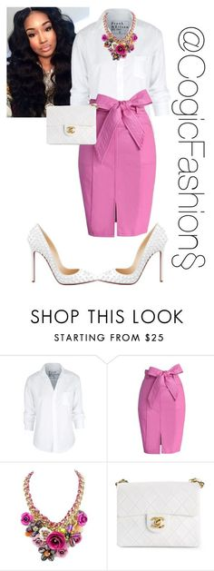 Church by cogic-fashion on Polyvore featuring Frank & Eileen, Chicwish, Chanel and Christian Louboutin