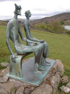 "Henry Moore sculpture - ""King and Queen"""
