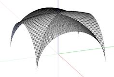 Creating a groin vault with a raised center - SketchUp - SketchUp ...