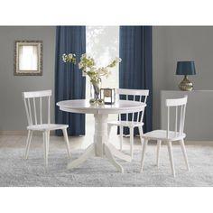 Masa cu blat din MDF alb lucios si picioare din lemn alb, Gloster ø106 x H75 cm - se remarca prin simplitate, finete si eleganta deosebita al design-ului modern si al finisajului lucios. Comanda se face online iar livrarea prin curier, oriunde in tara, in termen de 1 - 3 zile. Dining Set, Dining Chairs, Dining Table, Ikea Nursery, Clock Decor, Home Textile, All Modern, Home Kitchens, Living Room Decor