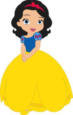 Vestido de Branca de Neve, cabelos de Branca de Neve,tira de Branca de Neve, olhos de Sofia e rosto de Sofia Snow White Birthday, Baby Birthday, Disney Crafts, Disney Art, Princesa Disney, Cute Clipart, Disney Clipart, Print And Cut, Princess Party