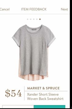 This looks cute! (and comfy) Market and Spruce Xander Woven Back Short Sleeve Shirt #stitchfix