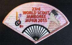 "23rd  world scout jamboree Japan 2015 official "" POPPEN "" Patch badge"