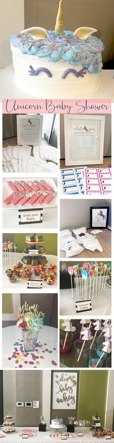Unicorn Baby Shower Ideas and Inspiration - Pretty Collected #UnicornBabyShower #BabyShower #BabyShowerIdeas #UnicornParty
