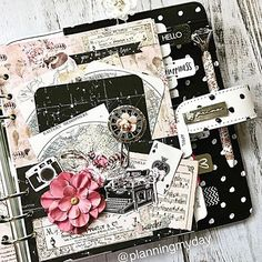 """#Repost @planningmyday ・・・ Made a pocket for my """"In The Moment"""" Prima Planner....using the Wild and Free collection...Just love the Vintage look!! #plannerlove #plannergirl #plannerlife #plannergoodies #myprimaplaner #plannerlove #plannercommunity #plannerembellishments"""
