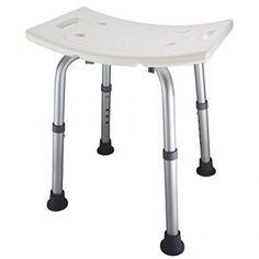 Azadx Bath Chair with Backrest, Adjustable Aluminium Alloy Elderly Bath and Shower Chair Lightweight Shower Bench Bath Bench White (with Backrest) Bathtub Bench, Bath Stool, Shower Seat, Bathtub Shower, Shower Benches, Shower Stools, Shower Chairs For Elderly, Best Bathtubs, Banks