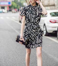 New European Style Stylish Dresses Summer Short Sleeve Lapel Dress Office  Career OL Dress Casual Slim Evening Party Dress ED59 39b5ed37b