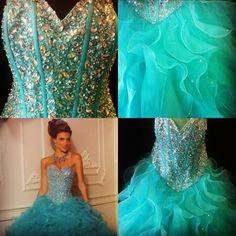 Beautiful Morilee Aqua Quinceañera dress