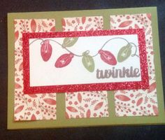 White Pines with red glitter paper