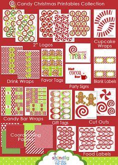 candy Christmas printables
