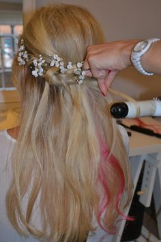 hair down with flowers - Google Search