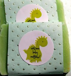 10 Dinosaur Soap Favors for a Baby Shower Full by daisycakessoap, $24.00