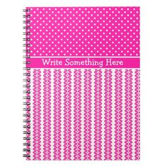 Shop Custom Notebook: Candy Pink and White Patterns Notebook created by poshandpainterly.