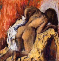 1896 - Woman Drying Herself / Edgar Degas