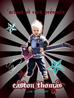 Rockstar 2nd birthday invitation