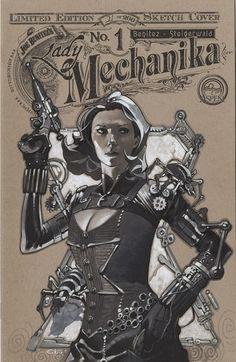 bear1na:  Steampunk Black Widow by Chris Stevens *