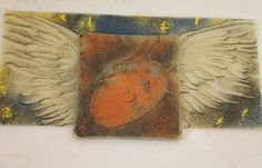 Fragility of Heart. Sgraffito fused glass, by Kathy Monti