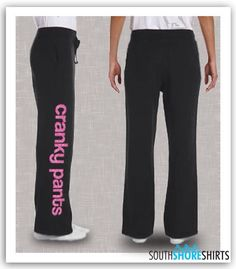 Cranky Pants Women's Lounge Pants by SouthshoreShirts on Etsy, $24.99