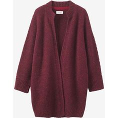 Toast Knitted Tweed Coat ($255) ❤ liked on Polyvore featuring outerwear, coats, damson, purple coat, cocoon coat, cardigan coat, tweed coat and cardigan jacket
