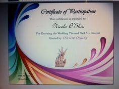 Divine Digitz: Some Classic Nail Art Designs & Certificate Example for Contest Entrants