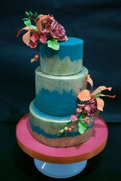 Rustic Teal and Gold