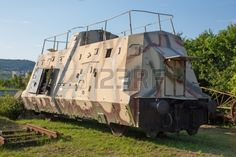 armoured German wagon form second world war combat train Stock Photo