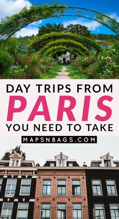 paris travel Guide to epic day trips from Paris! It includes towns in France and abroad as well as how to get to each one of them. Read now! Paris Travel Guide, Europe Travel Tips, European Travel, Travel Destinations, Travel Plan, Travel Ideas, Weekend Vacations, Weekend Trips, Dream Vacations
